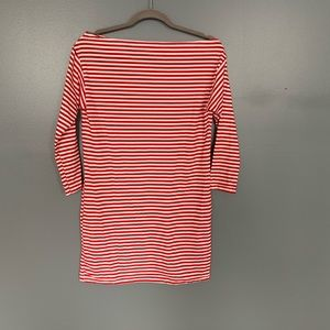 Stripe Top with 3/4 Sleeve Red And White Size S